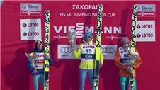 Stoch wins Poland ski jumping