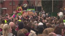 Missing ball ends anual Shrovetide football match