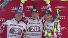 Reichelt leads Austrian 1-2-3 at Garmisch Partenkirchen