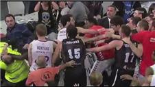 Mass brawl at Spanish basketball