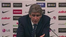 Pellegrini not thinking about Chelsea after Leicester win
