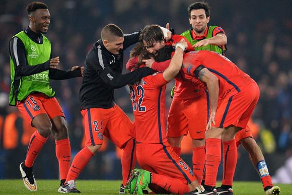 Chelsea FC 1 - 1 Paris Saint Germain: Blues bow out