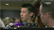 Lin reacts after season-high 29 points for the Lakers