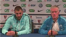 Benzema and Deschamps look ahead to Brazil friendly