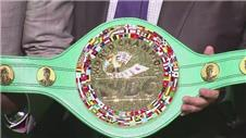 The WBO present belt for Pacquiao Mayweather fight