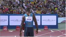 Gatlin dominates 100m at Diamond League in Qatar