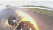 DRAMATIC FOOTAGE: IndyCar's Hinchcliffe crash
