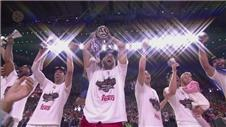 Real Madrids basketball team win record European title
