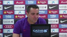 Xavi emotional in farewell press conference
