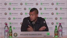 Jo-Wilfried Tsonga pleased with serious game