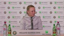 Wozniacki upset by early exit at Roland Garros
