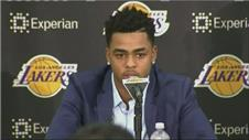 Lakers introduce draft picks Russel and Larry Nance Jr