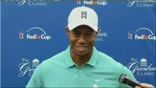 Woods finding 'rhythm' and 'flow' at Greenbrier Classic