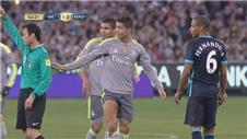 OUCH: Ronaldo gets kicked in the groin