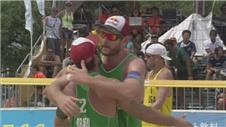 Wins for Brazil & Germany at Yokohama beach volleyball
