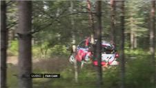 MASSIVE CRASH! Neuville fells tree at Rally of Finland