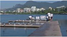 Rowers clean Olympic venue themselves
