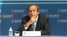 Platini refuses to discuss UEFA and defends English financial power