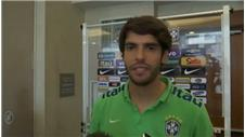 Kaka trains with Brazil after recall