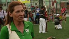 Rio 2016 organisers take archers to visit a favela