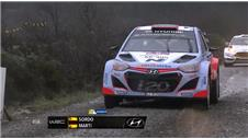 Ogier maintains lead in wet Wales