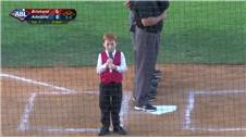 MUST WATCH! A case of the hiccups during the national anthem