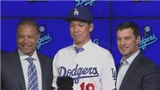 The LA Dodgers introduce new pitcher Kenta Maeda