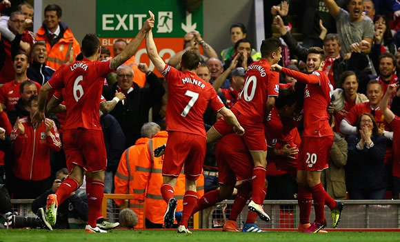 Liverpool 4 - 0 Everton: Liverpool turn up the heat on Roberto Martinez with ruthless derby victory