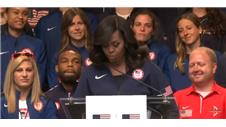 Michelle Obama meets US Olympians