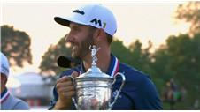 Dustin Johnson wins the U.S. Open