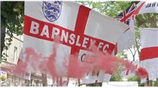 England fans behaving themselves in St Etienne