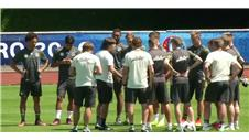 Germany train following Slovakia win