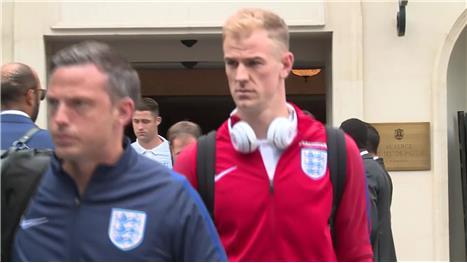 Downbeat England squad depart France