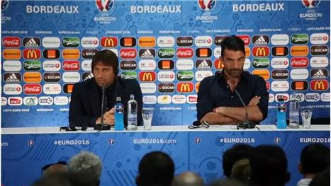 Conte and Buffon stress 'difficulty of Germany match'