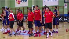 Spains basketball team begin preparation for Rio 2016