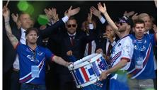 Iceland return home to hero's welcome