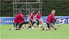 Wales train ahead of Portugal semi-final