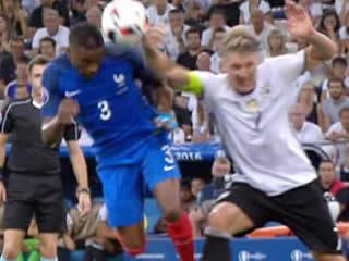 REF IN SPOT-LIGHT France got lucky against Germany after referee's dodgy call allowed Antoine Griezmann to net penalty for opener