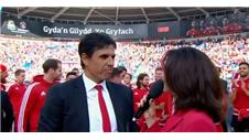 Rapturous Cardiff welcome for Coleman and Wales