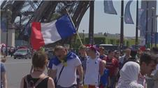 Fans gather ahead of Euro 2016 final