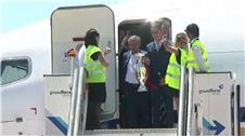 Portugal return home after winning Euro 2016