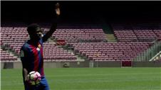 Samuel Umtiti unveiled at Barcelona