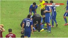 Demba Ba suffers horrific leg break playing for Shanghai Shenhua