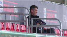 Roy Keane watches Barcelona train at St. Georges Park