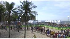 Copacabana beach buzzing for Olympic Volleyball
