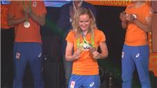 Van der Breggen celebrates cycling gold