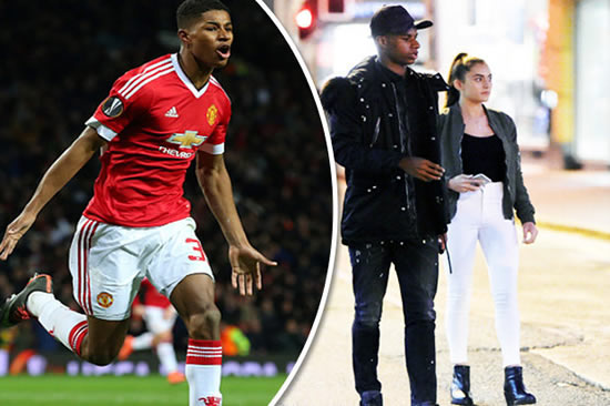 Ace Marcus Rashford snapped with mystery brunette on ...