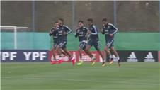 Injured Messi misses Argentina training session