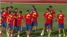 Spain and Italy train ahead of friendlies