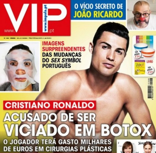 Cristiano Ronaldo accused of being addicted to botox